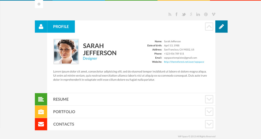 20  best vcard wordpress themes for creating an online resume in 2017
