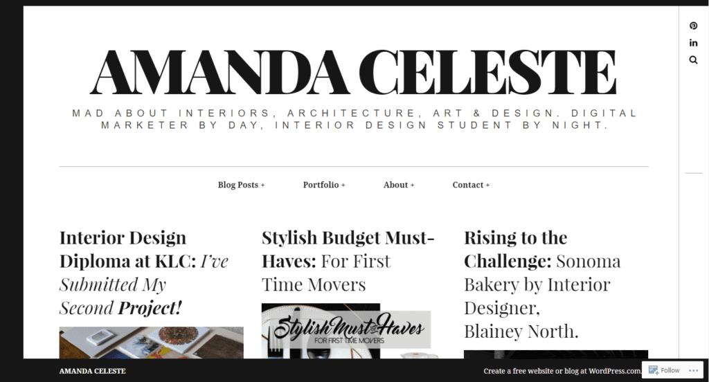 Amanda Celeste blog