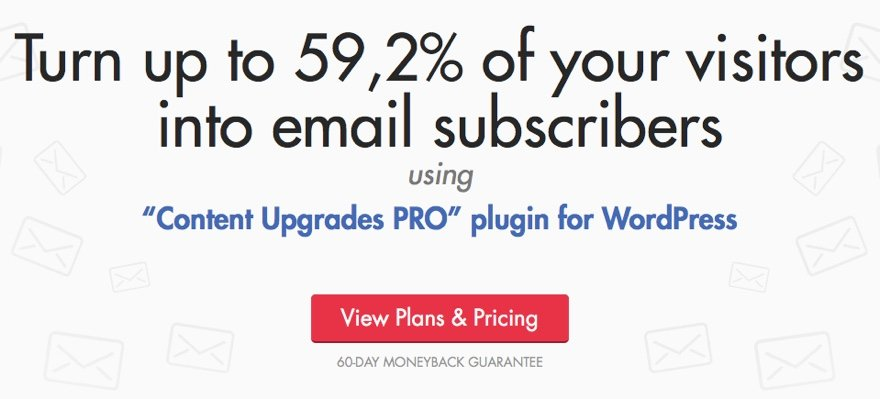 Content Upgrades Pro email marketing plugin