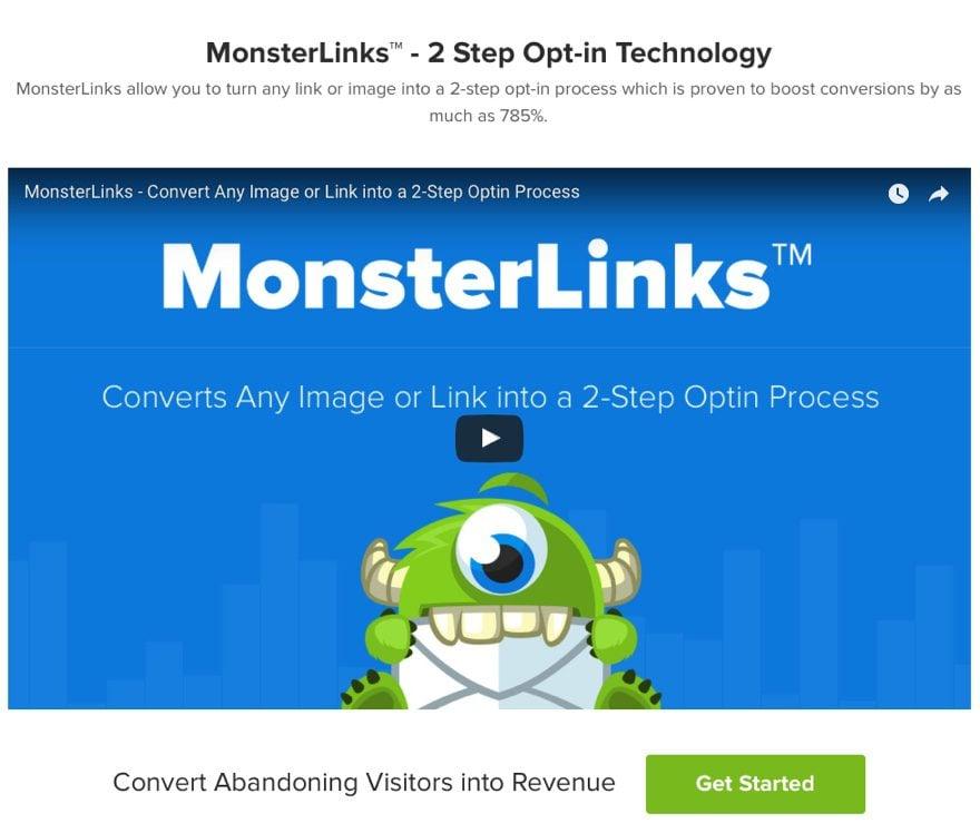 Use OptinMonster's MonsterLinks feature