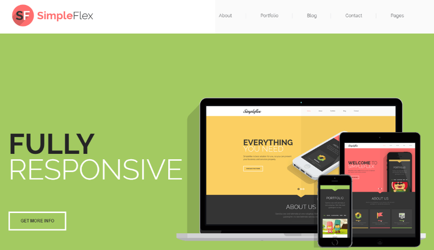 20+ Fantastic Flat Design WordPress Themes for Simple & Stylish ...