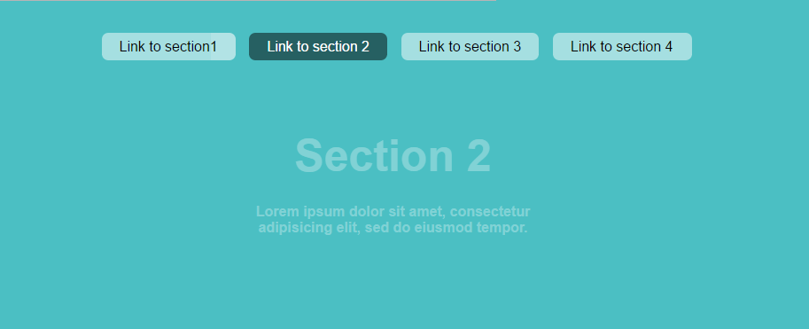 in-page navigation example