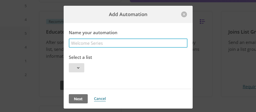 Picking a name for your automation.