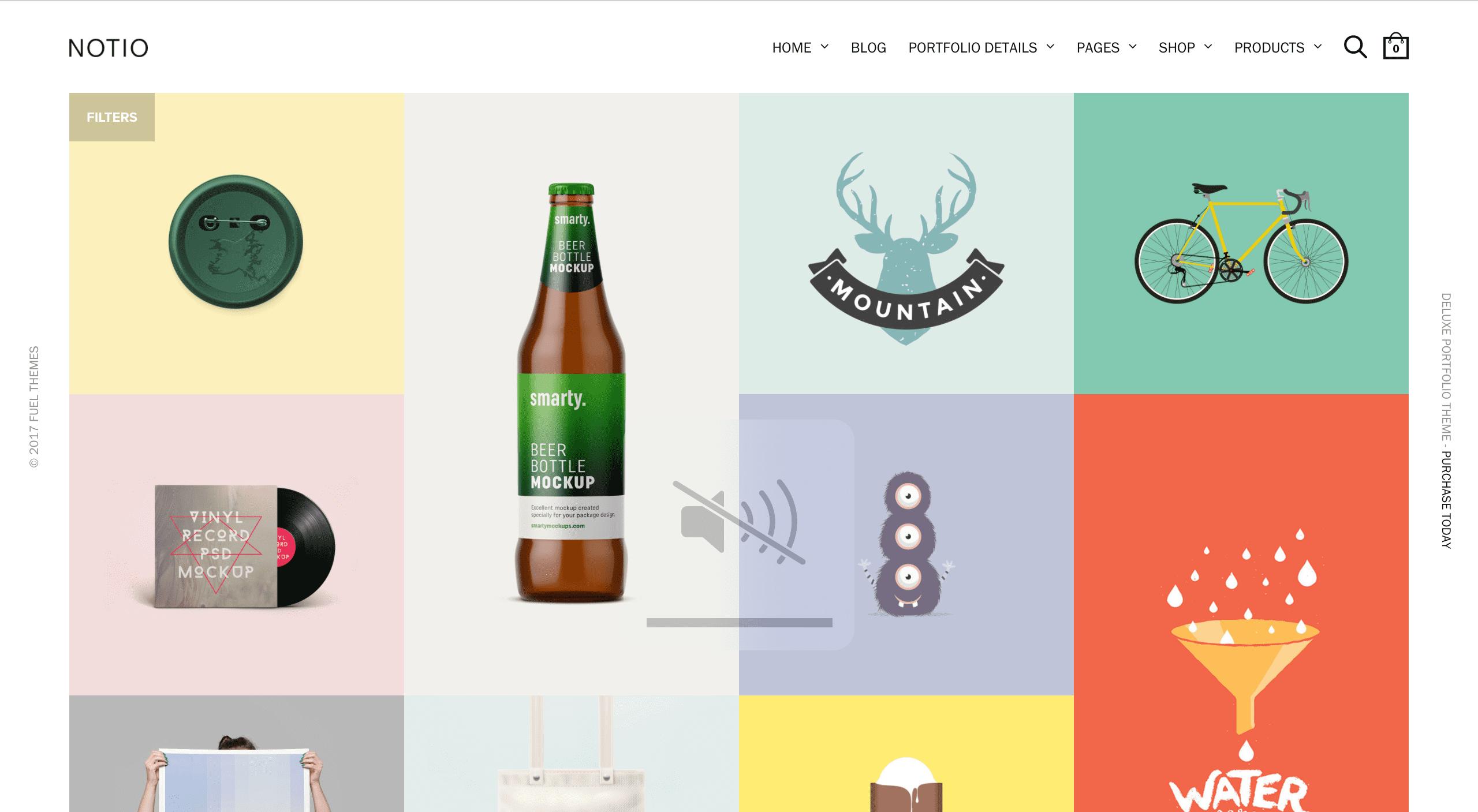 Screenshot of Notio theme