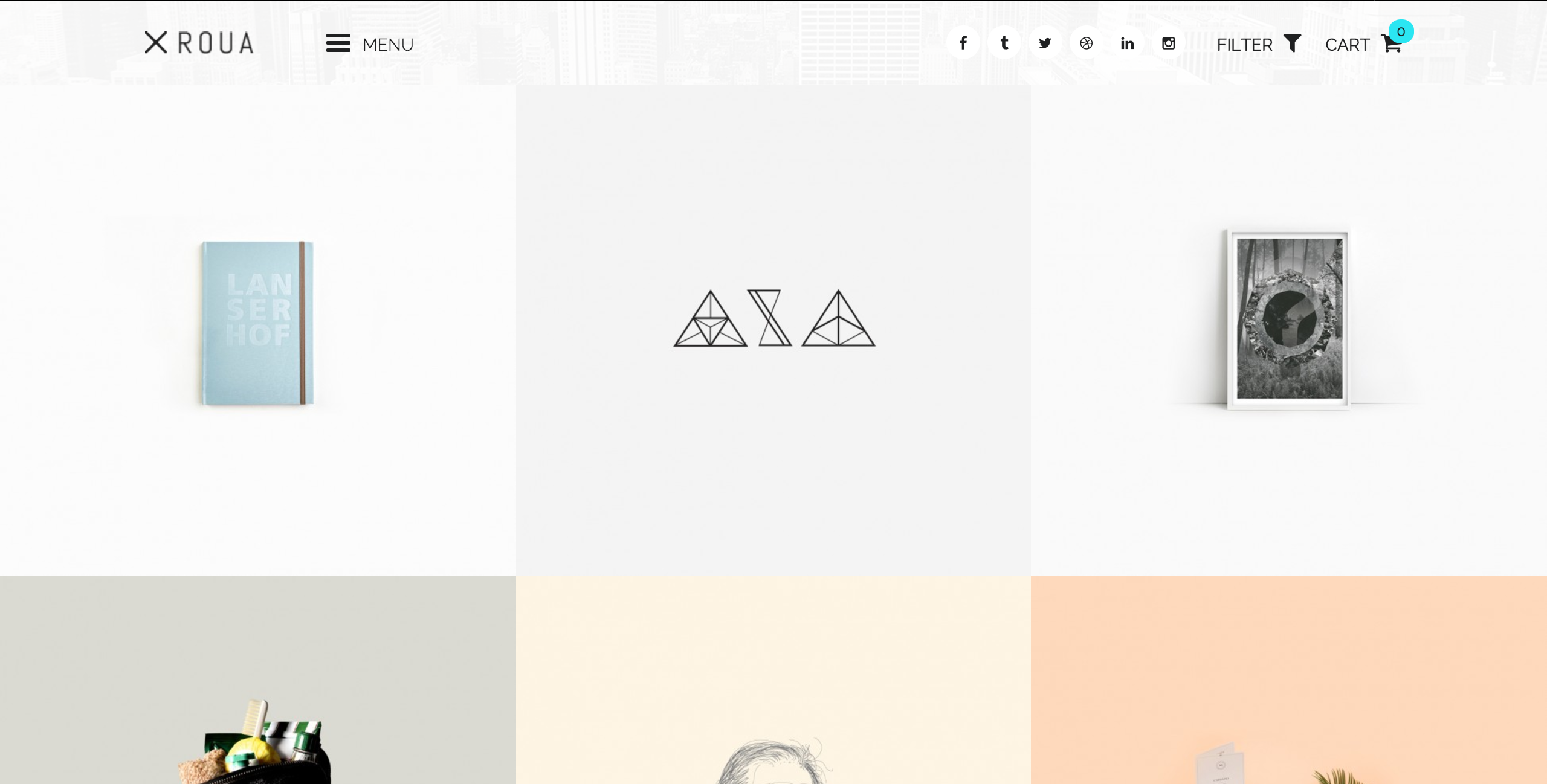 Screenshot of ROUA theme