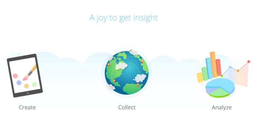 The SurveyLegend homepage.