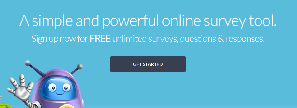 The SurveyPlanet homepage.
