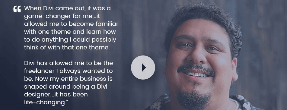 An example of a testimonial about Divi.