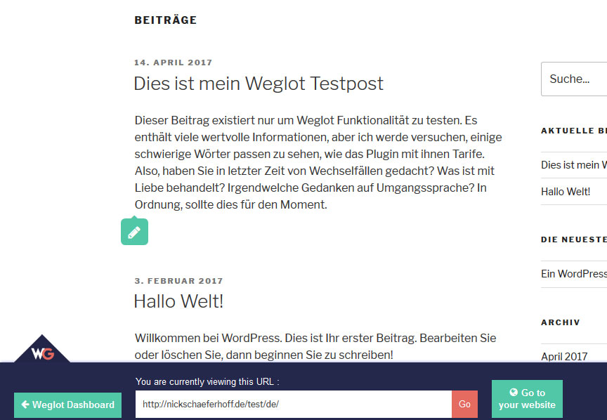 weglot review change text