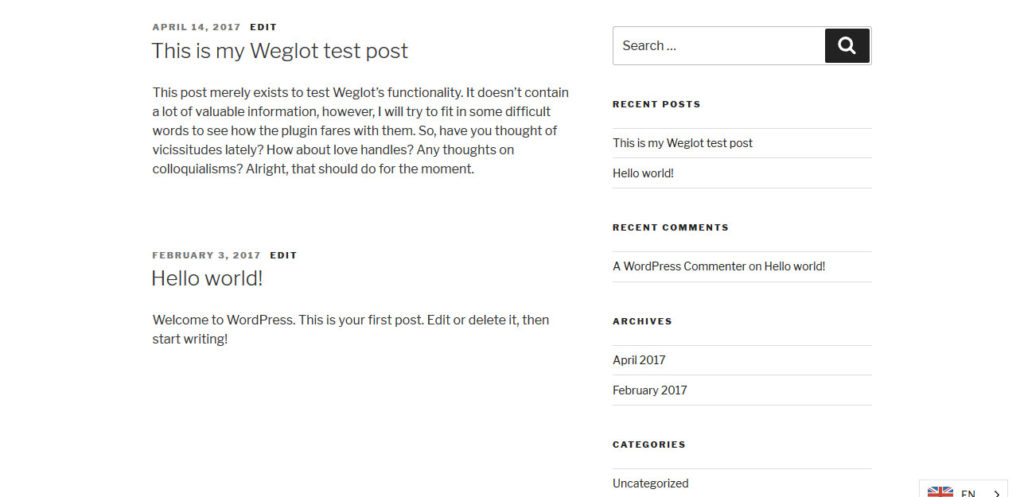 weglot review test content