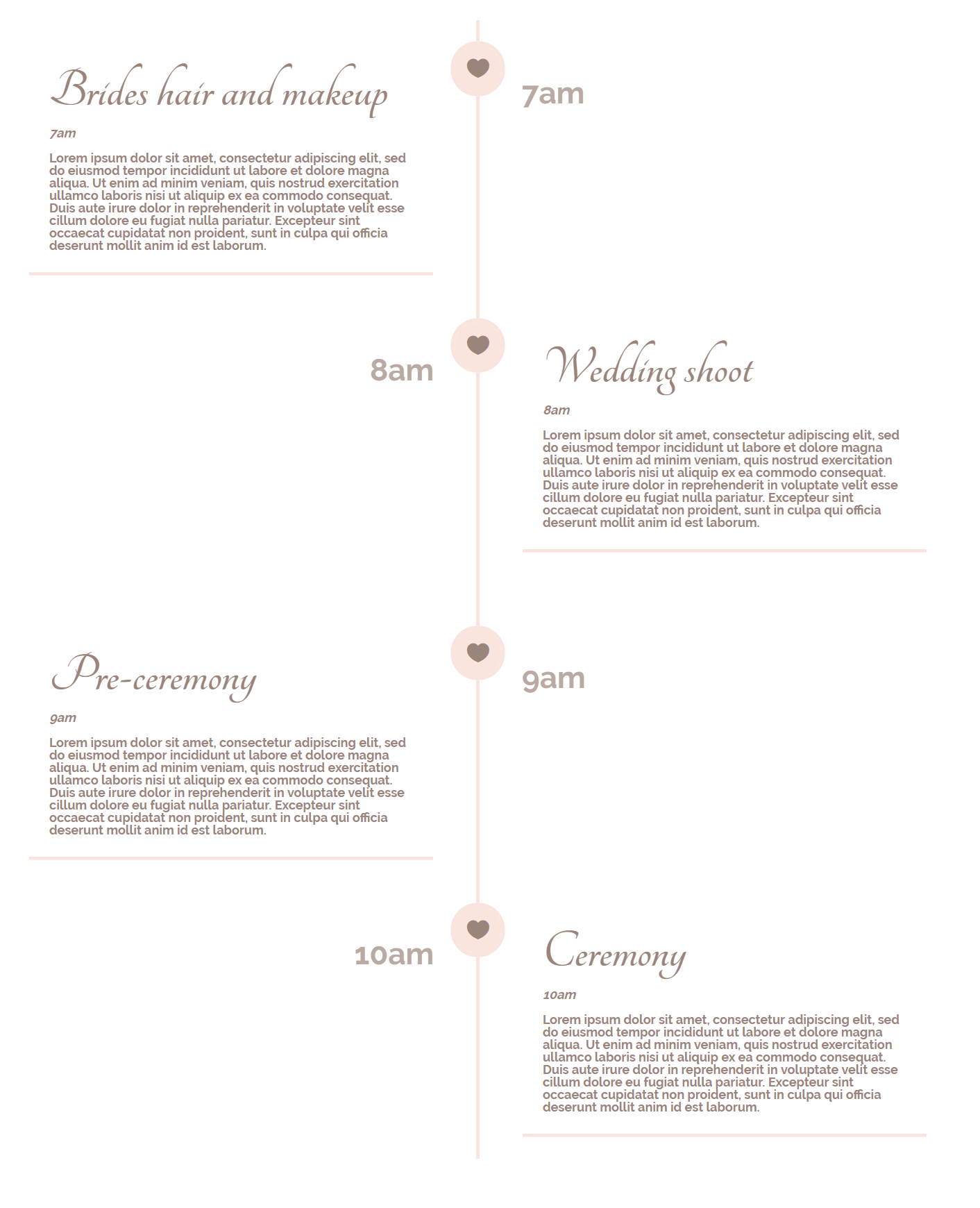 How to create a timeline for your wedding schedule with divi the your way with the timeline after reading this post you can quickly get started create one your own and give that extra touch to your wedding website junglespirit Images