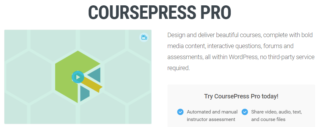 The CoursePress Pro plugin.