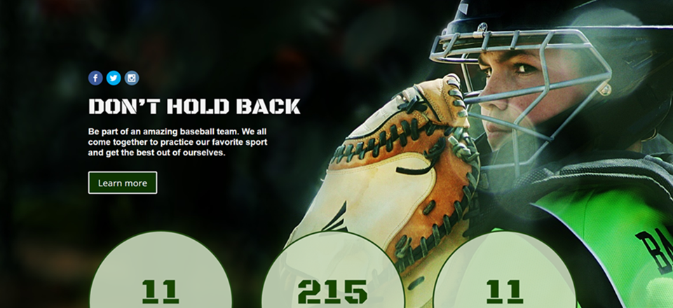 Download Your Free Baseball Homepage Layout