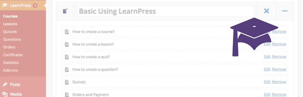 The LearnPress plugin.