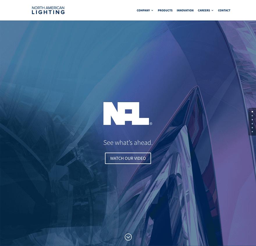 north-american-lighting & Divi Design Showcase: 10 Community Divi Web Design Submissions ...