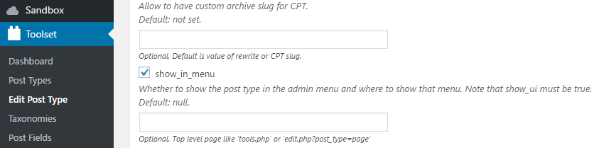 Changing the location for your custom post type's tab.