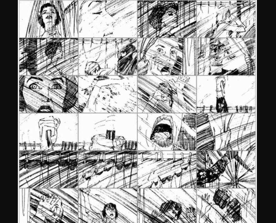 Psycho storyboards