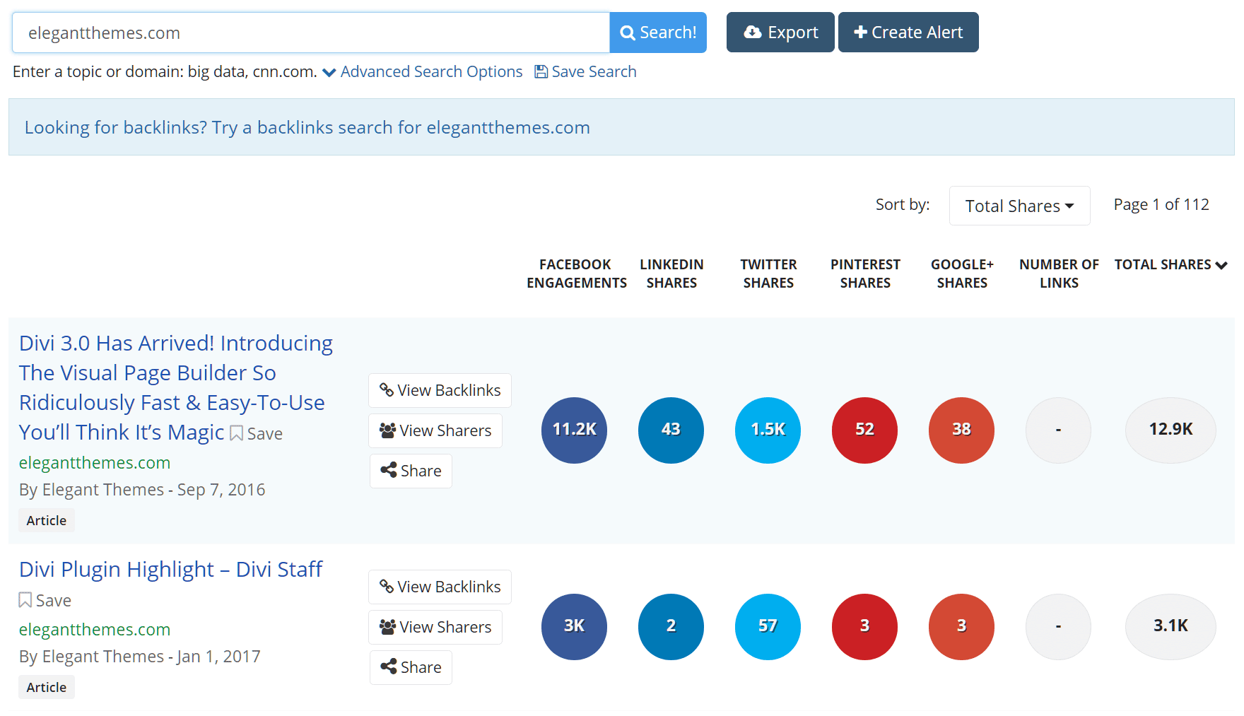 Find your popular content with Buzzsumo