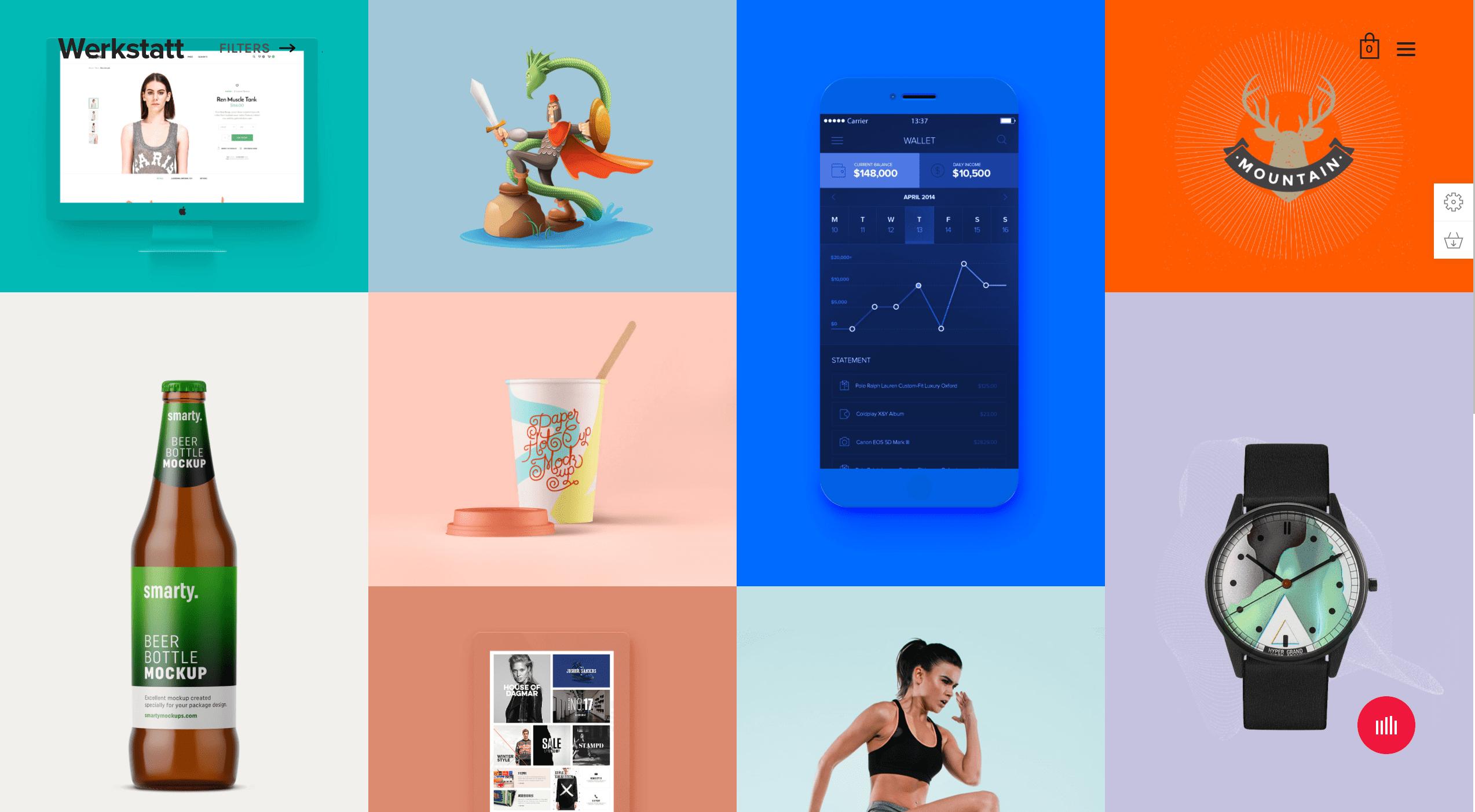 Screenshot of Werkstatt theme