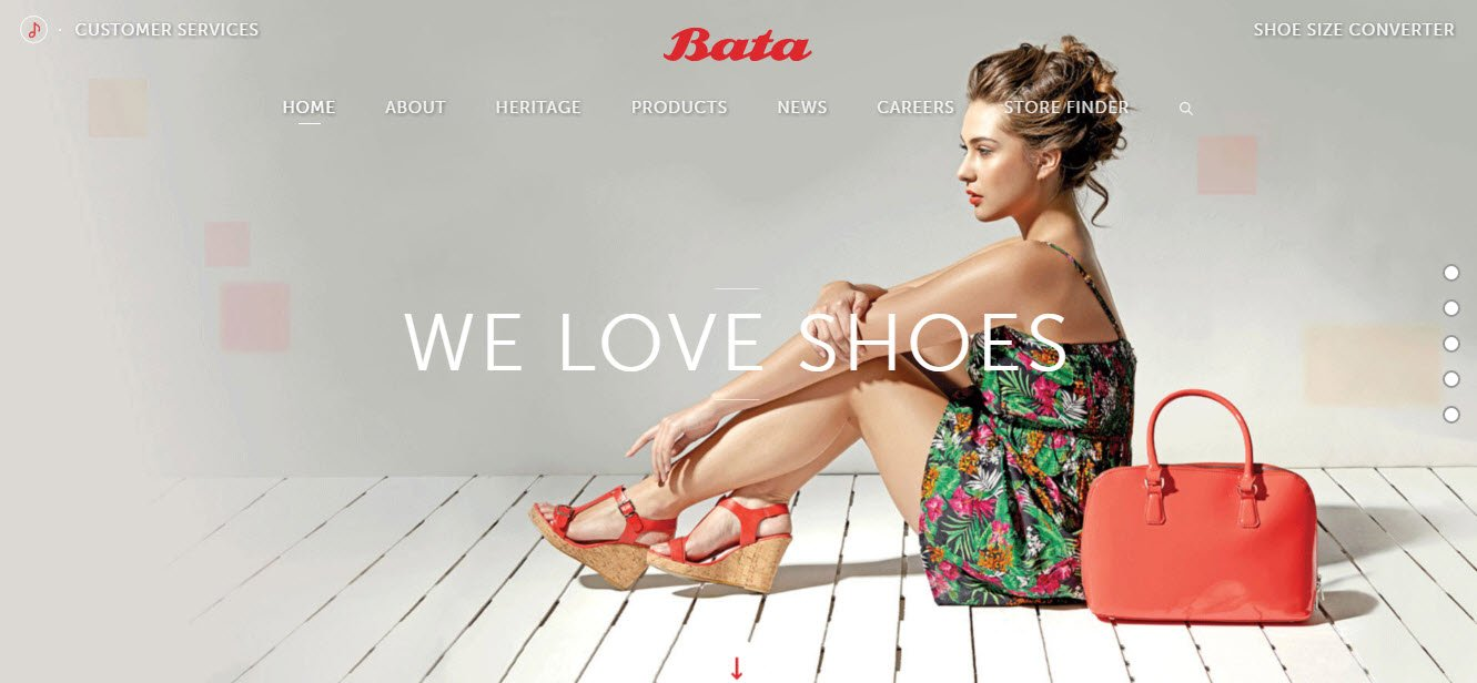 Shopping websites - Bata