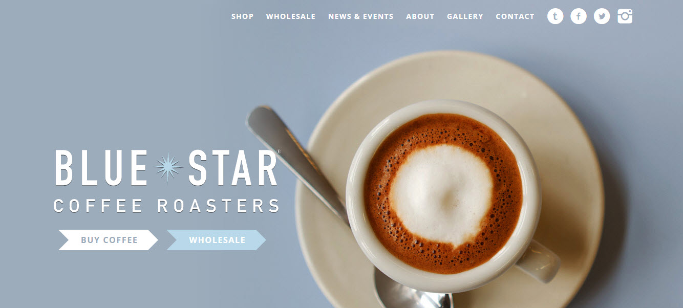 Shopping websites - Blue Star Coffee