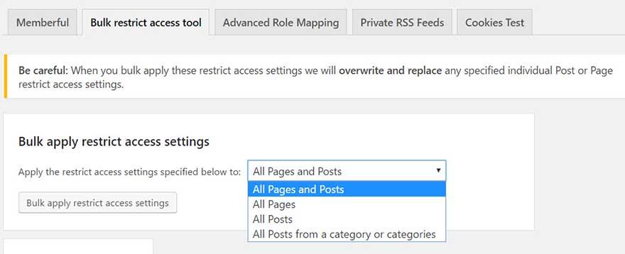 Bulk Apply Restrict Access Settings-1