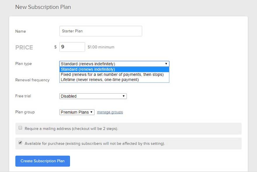 Customize Subscription Plan-1
