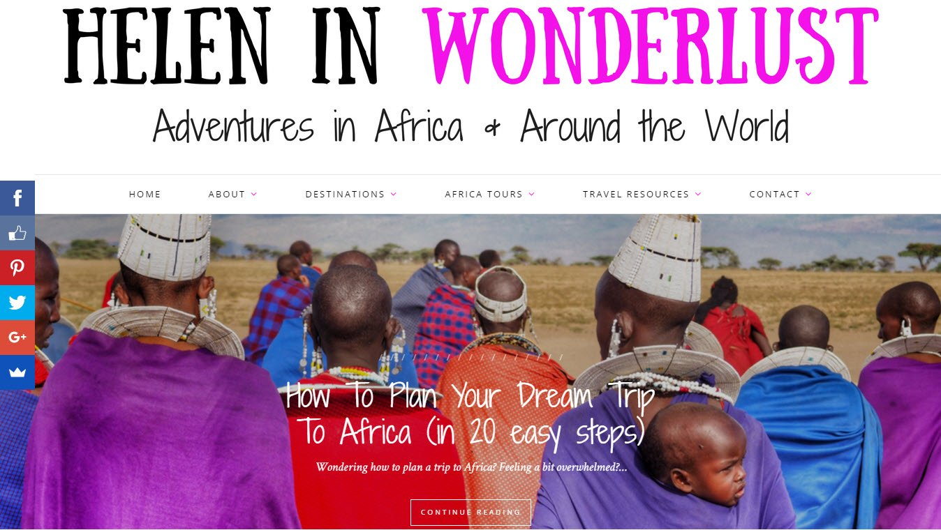 Travel blogs - Helen in Wonderlust