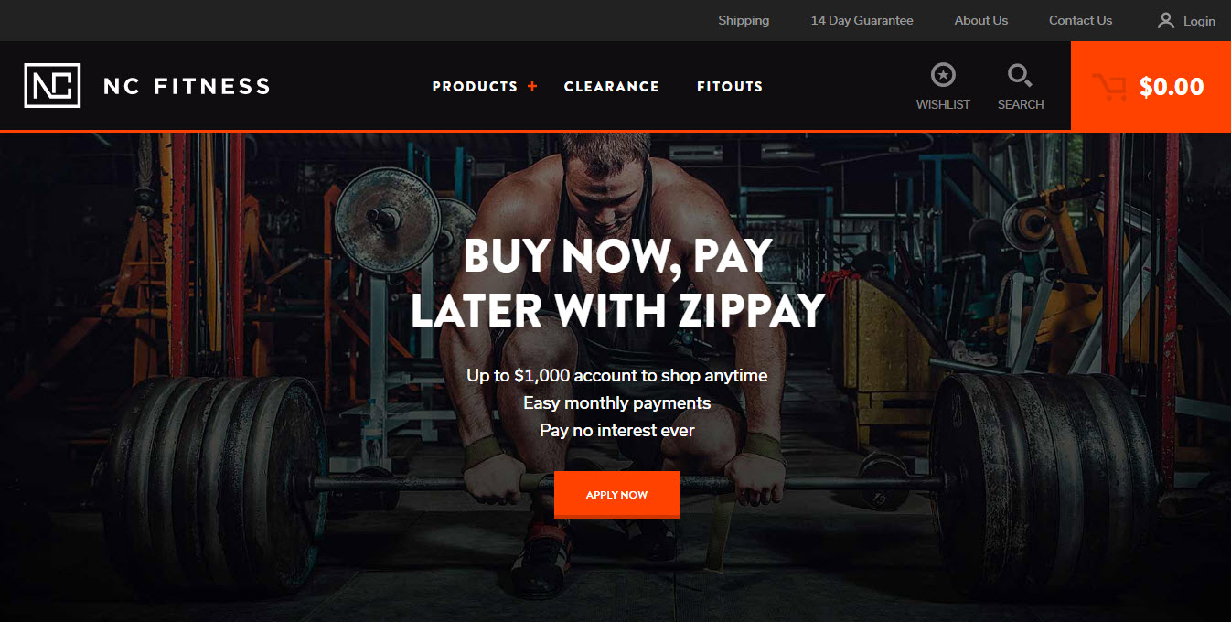 Shopping websites - NC Fitness