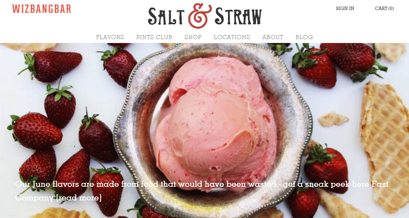 Shopping websites - Salt and Straw