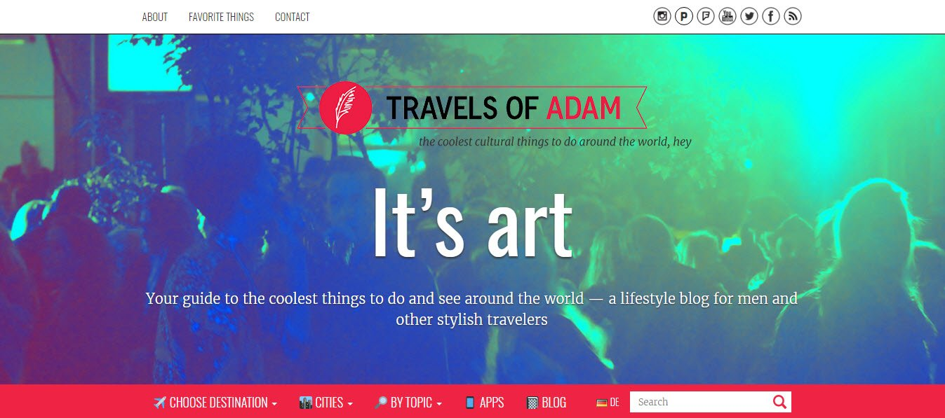 Travel Blogs - Travels of Adam