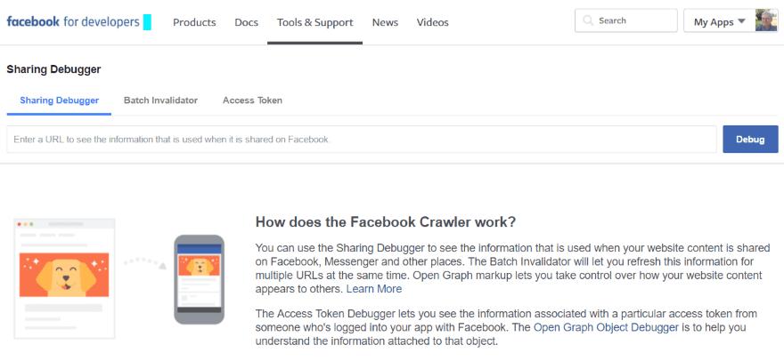 Facebook Debugger-Using-Facebook's-Sharing-Debugger