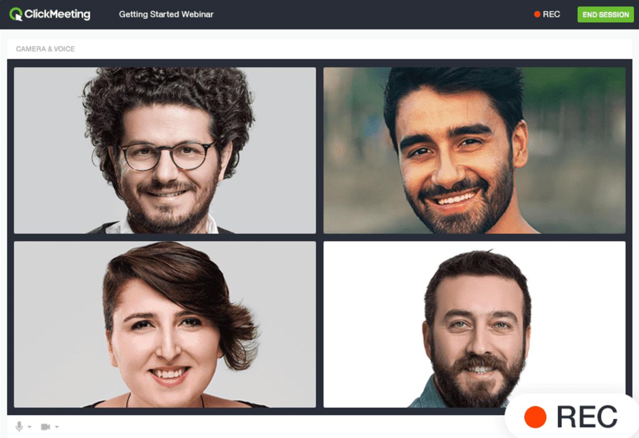 The ClickMeeting webinar recording tool.