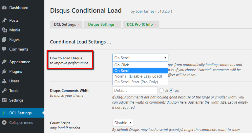 Disqus Conditional Load