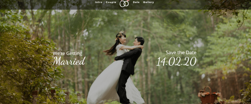 A wedding site created with Divi.