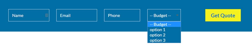 inline contact form