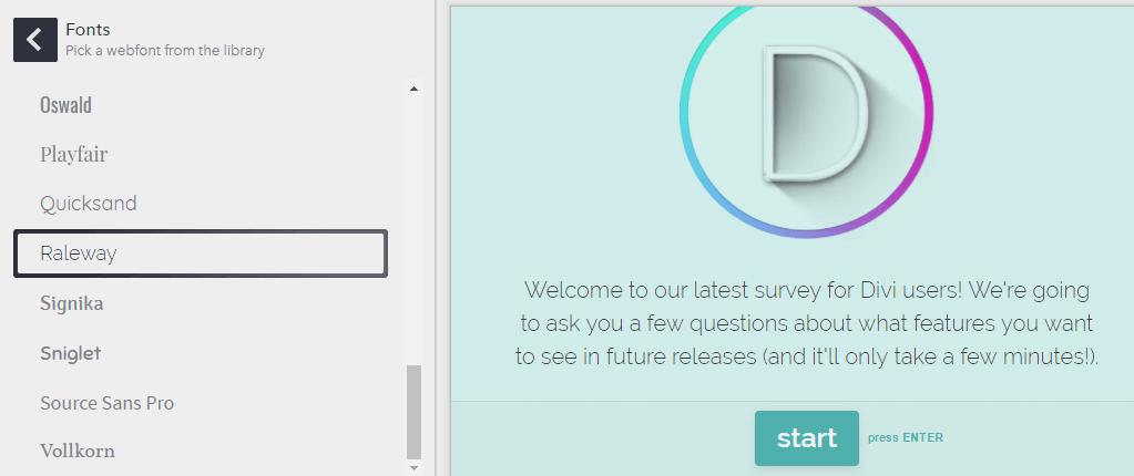 Changing your survey's default font.