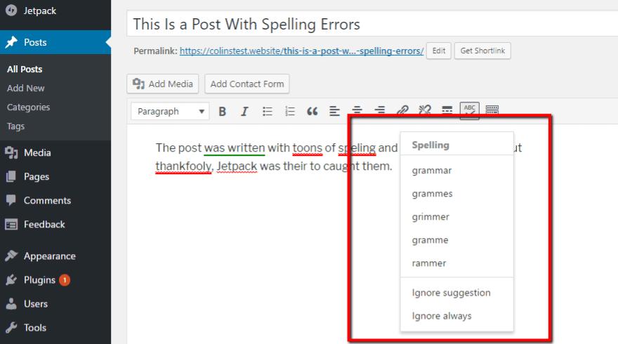 Specific errors
