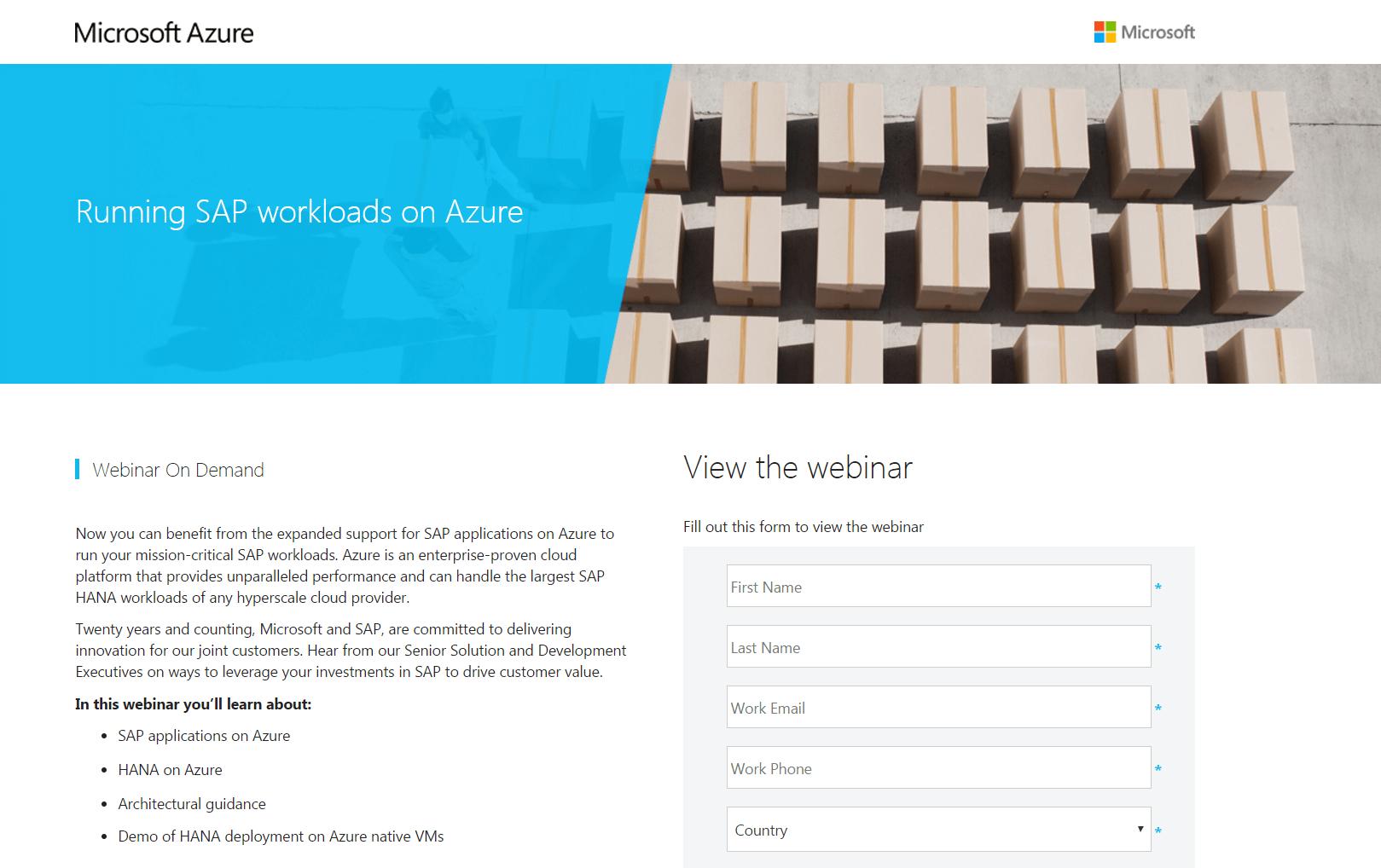 A Microsoft webinar.