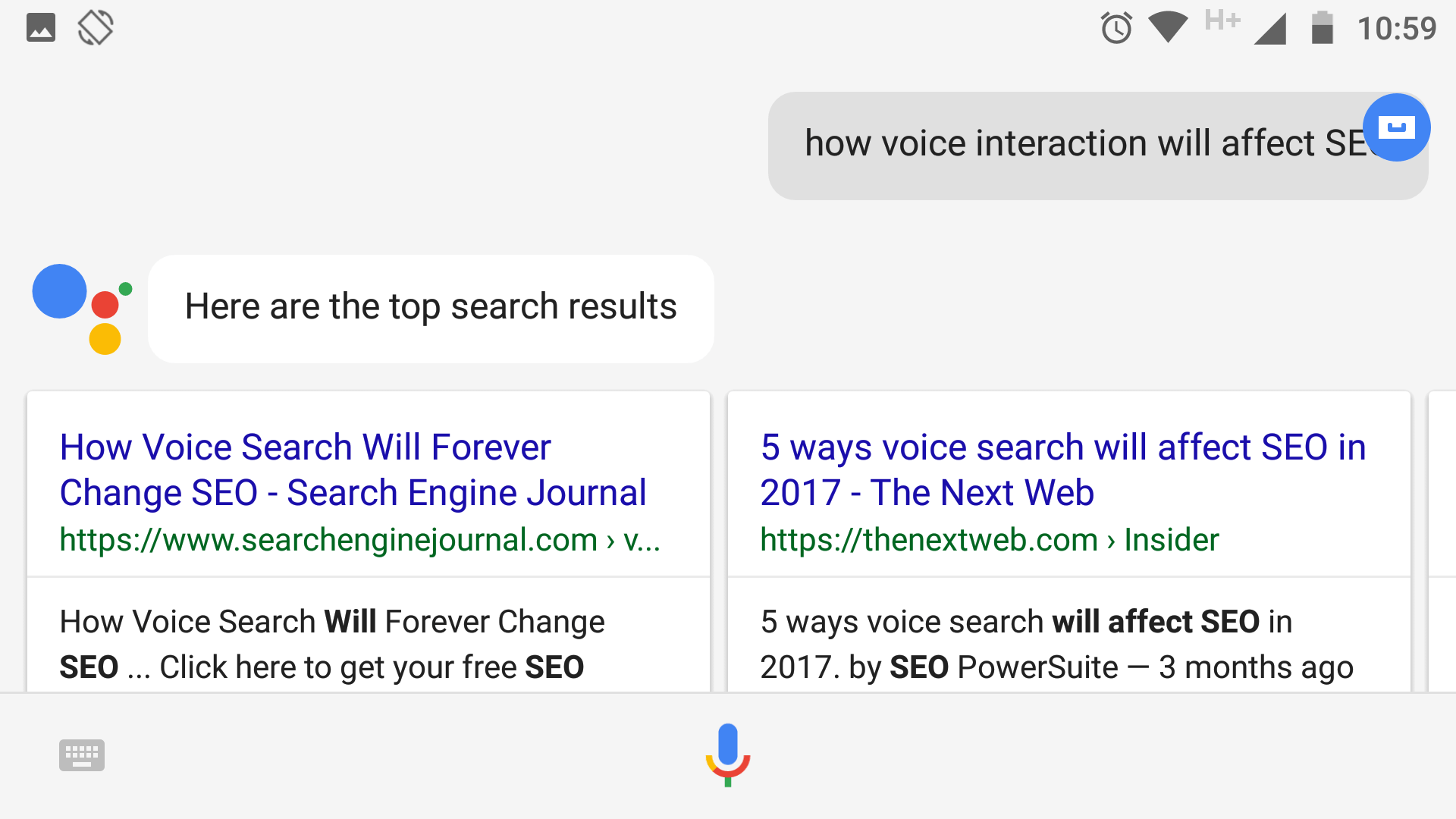 How voice interaction will affect SEO.