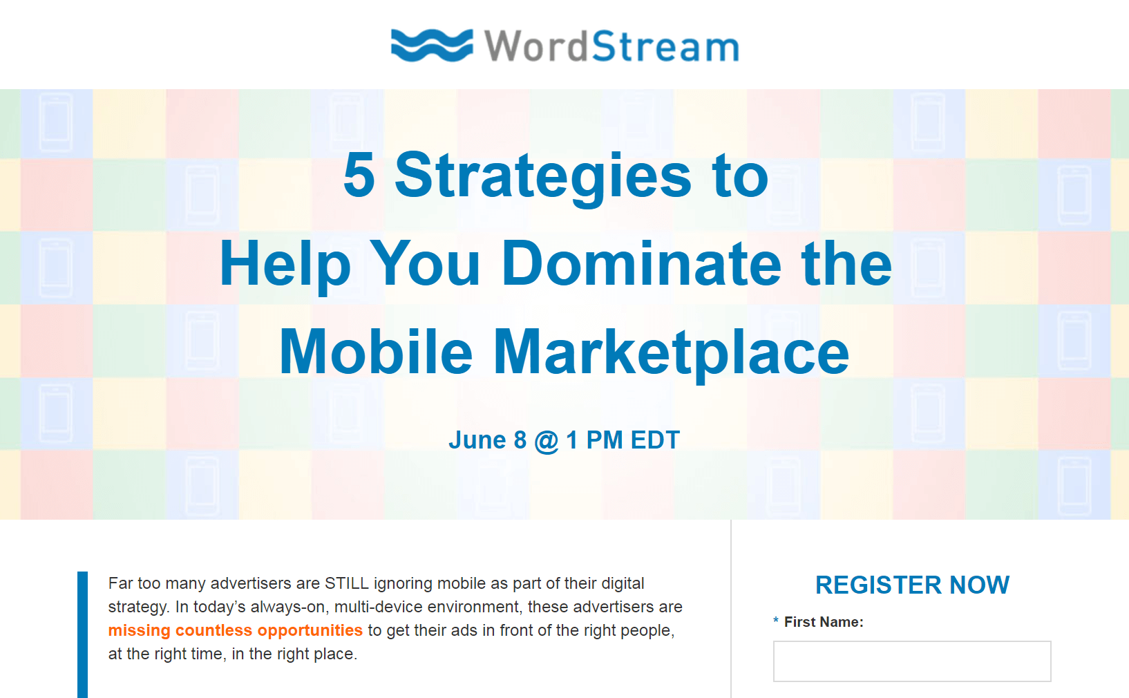 A WordStream webinar.