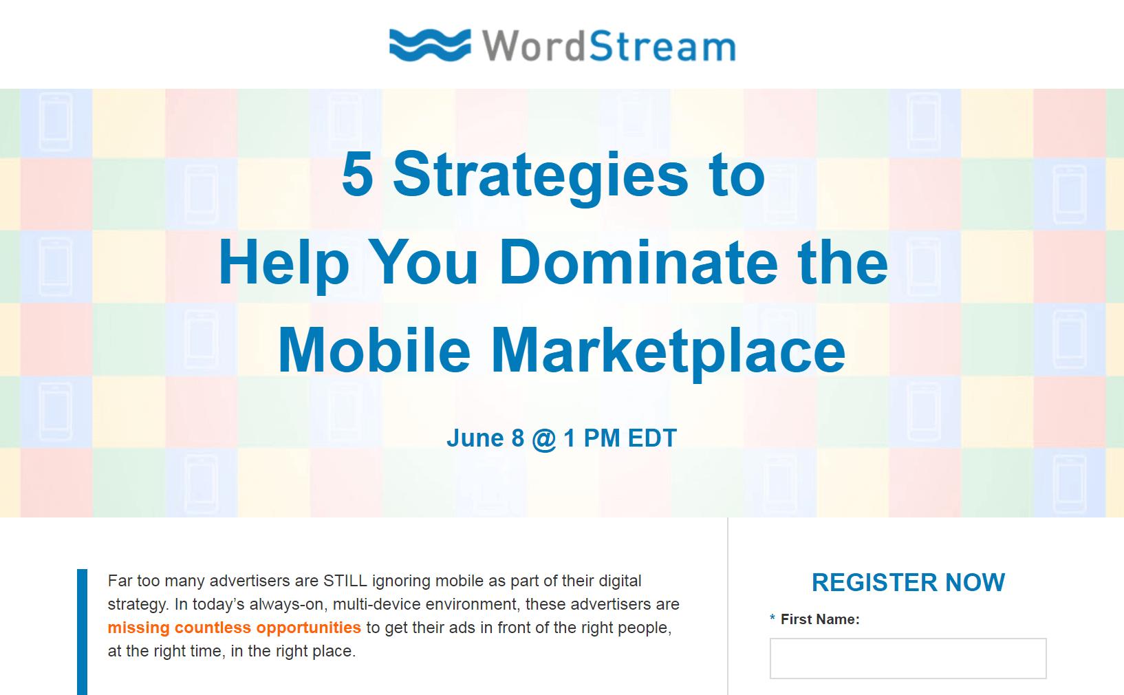A WordStream webinar.