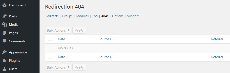 Your 404 error logs.