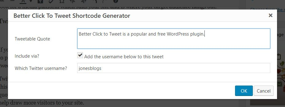 Better Click to Tweet Generator Popup