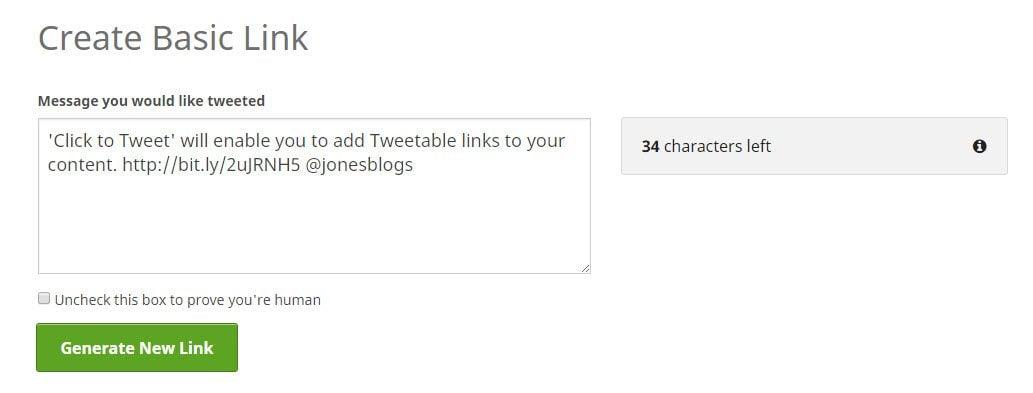 Create Basic Link