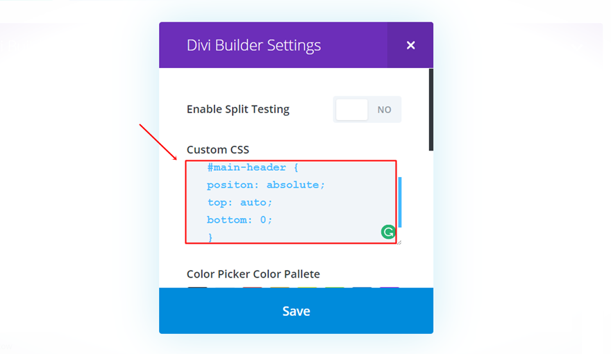 How to Make Your Divi Navigation Start at the Bottom, Then