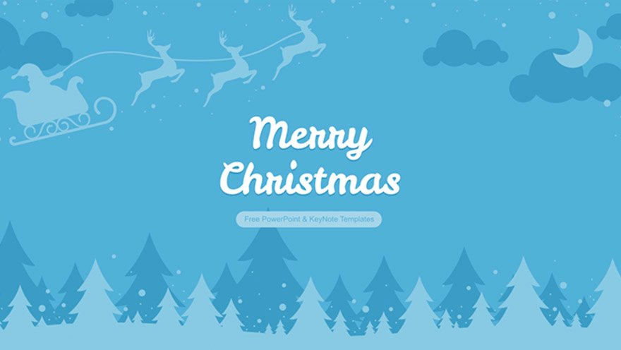 keynotes template merry Christmas