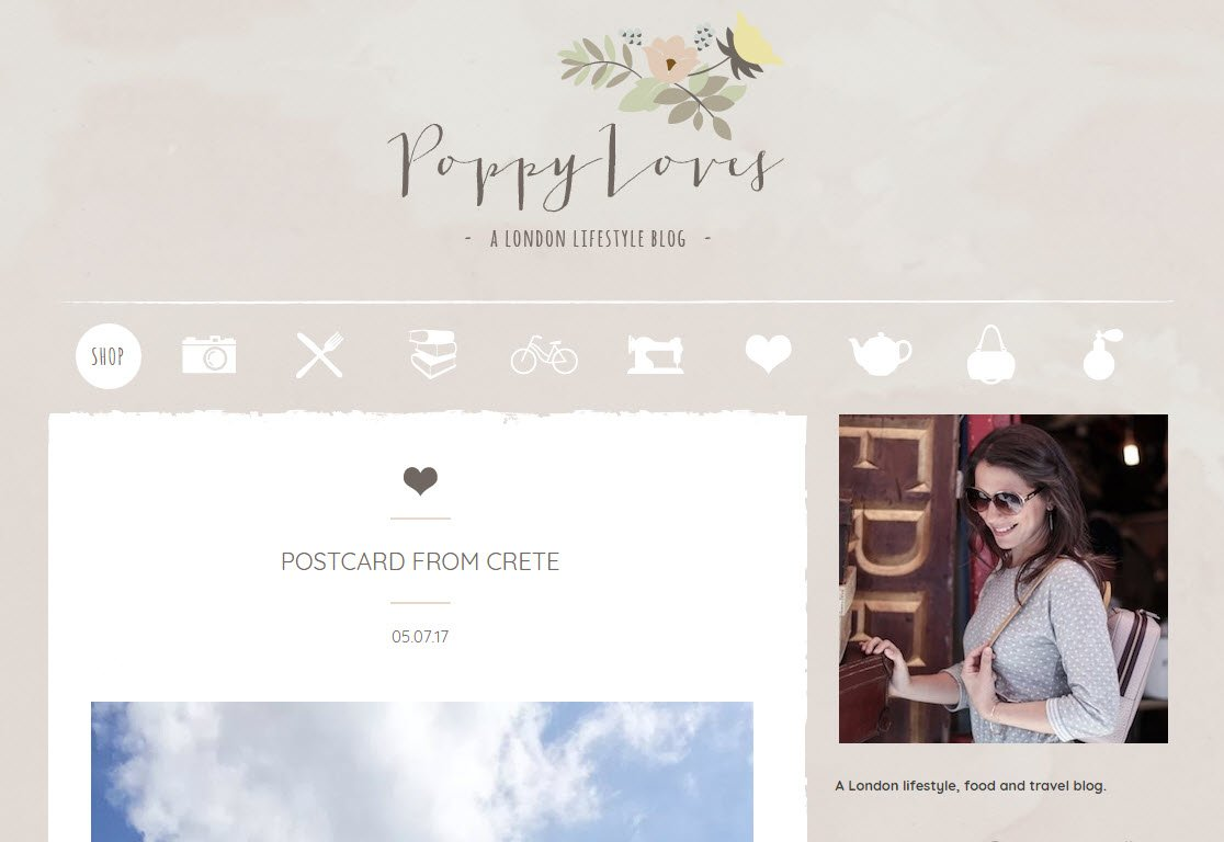 Lifestyle Blogs Generally Tend To Opt For A White Background, Black Text,  And An Extremely Minimal Style. Poppy Loves Uses A Patterned Background, ...