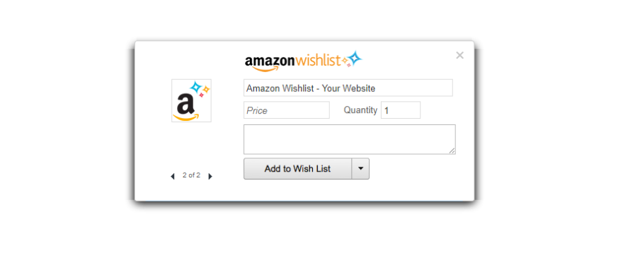 Amazon wishlist button