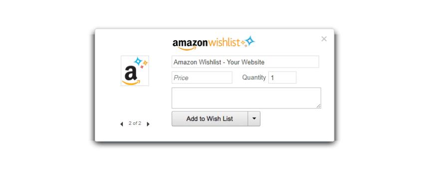 Amazon wishlist button